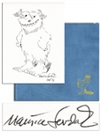 Original Wild Things Drawing by Maurice Sendak -- Included With a Signed Limited 25th Anniversary Edition of Where the Wild Things Are -- Near Fine Condition