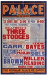 Moe Howard Owned Poster Advertising The Three Stooges Famous June 1939 Show at the Blackpool Palace in England -- Larger Size Measures 24.75 x 39.75