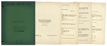 Moe Howards Script for The Three Stooges 1951 Film Three Arabian Nuts, With Working Title Genii With the Light Brown Hair