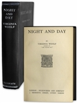 Virginia Woolf First Edition, First Printing of Her Second Novel Night and Day
