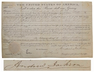 Andrew Jackson Land Grant Signed as President