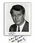 Robert F. Kennedy Signed 8 x 9.75 Photo