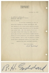 Scarce 1938 Letter Signed by Robert H. Goddard, the Father of Space Flight -- ...such matters as the rocket motor have accordingly not received as much attention... -- With JSA COA