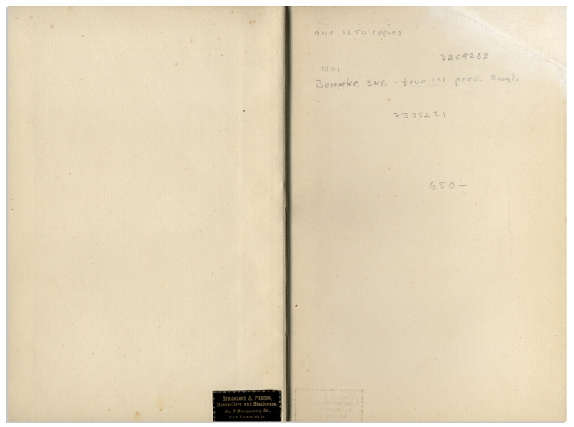 First Edition of Robert Louis Stevenson's Classic ''Strange Case of Dr Jekyll and Mr Hyde'' -- Near Fine Condition