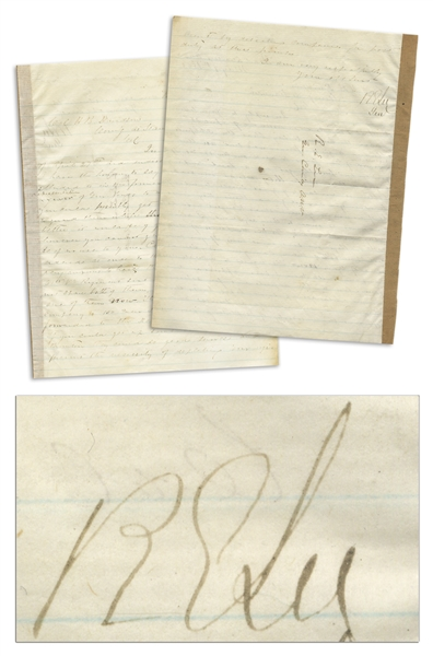 General Robert E. Lee Letter Signed Regarding Troop Replenishment After the Battle of Chancellorsville -- Dated 9 May 1863 After Lee Made the Audacious Decision to Split His Army & Bluff the Union