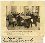 Franklin D. Roosevelt Signed Photo of His Turkey Cabinet as Governor of New York in 1932 -- Signed in Full, Franklin D. Roosevelt