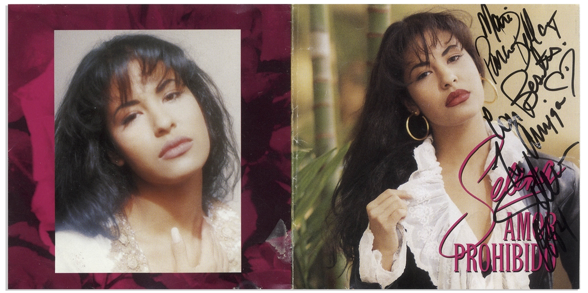 Selena Signed ''Amor Prohibido'' CD, the Last Album Released by Selena -- With Roger Epperson COA