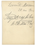 Sergei Diaghilev Autograph -- Also With the Autograph of Leonide Massine, Diaghilevs Choreographer for the Ballets Russes