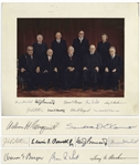 The Burger Supreme Court Signed Photo Mat -- Signed by All Nine Justices, Circa 1981