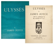 James Joyce Ulysses First Edition From 1922 -- #877 of the 1,000 Copies in the Rare First Edition