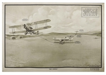 Royal Air Force World War I Training Poster -- Large-Format Lithograph Poster Entitled Bad Landing Measures 40 x 27