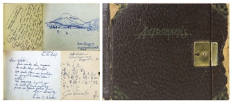 Extraordinary Autograph Album of a Young Japanese Girl Imprisoned in the Tule Lake Concentration Camp During WWII -- ...Tule Lake will remain in my memory for ever...