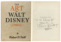 Walt Disney Signed Copy of His Pioneering Animation Study, The Art of Walt Disney -- With Phil Sears COA