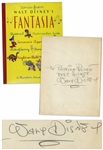 Walt Disney Signed Copy of Stories From Walt Disneys Fantasia -- With Phil Sears COA