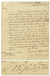 George Washington Letter Signed, One Day Before the British Captured Philadelphia -- ...keep the most vigilant lookout...