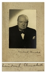 Winston Churchill Signed Photo, Signed on the Mat -- Rare