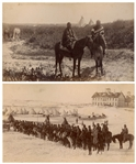 Two Original Wounded Knee Photographs From 1890-1891, at the Time of the Massacre -- One Photograph Shows Cheyenne Cavalry, Recruited by the U.S. Military to Fight Their Enemy, the Sioux