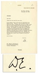 Dwight D. Eisenhower Typed Letter Signed as President -- To His Brother Edgar -- ...you desire to see the extreme fringes of the New Deal and the ADA back in power...