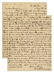 Lincoln Assassination Letter -- ...Rev. [George] Porter...simply reiterates what he has heard from others although he writes as if he were stating matters he had witnessed in person...