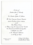 Invitation to JFKs Texas Welcome Dinner the Night of His Assassination