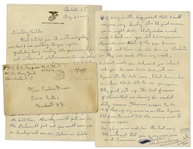 Rene Gagnon 1943 WWII Autograph Letter Signed, Plus Signed Envelope -- ...They just put up the list of names of those that are leaving for combat duty overseas...