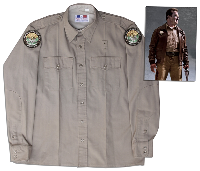 Arnold Schwarzenegger Screen-Worn ''Hero'' Costume From ''The Last Stand''