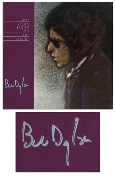 Bob Dylan Signed Album ''Blood on the Tracks'' -- With COAs From Jeff Rosen and Roger Epperson