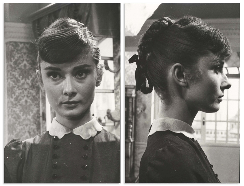 Audrey Hepburn Personally Owned Pair of Photos From ''War and Peace'' -- From the Personal Collection of Audrey Hepburn