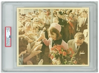 Original 10 x 8 Photo of Jackie Kennedy Taken by Cecil W. Stoughton the Morning of the Assassination -- Encapsulated & Authenticated by PSA as Type I Photograph