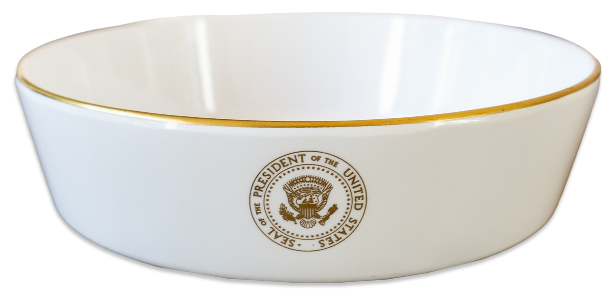 Presidential China Bowl Used Aboard Air Force One During the Nixon Adminstration