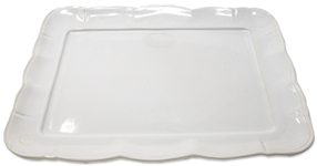 Elegant White-Glazed Platter Owned by the Kennedy Family -- From Sothebys 2005 Sale, Property From Kennedy Family Homes