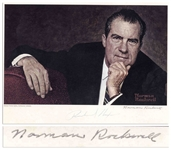 Norman Rockwell Signed Portrait of Richard Nixon, Done by Rockwell
