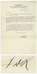 Franklin D. Roosevelt Letter Signed From 1928 Regarding Teaching Children at Warm Springs