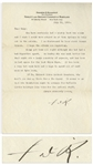 Franklin D. Roosevelt Letter Signed From 1928 Regarding a Crisis at Warm Springs -- ...I wish I could have stayed on at Warm Springs to help out in the crisis...