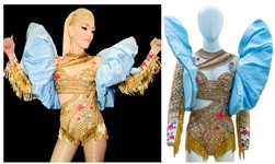 Gwen Stefani Stage-Worn Bodysuit From The Voice Custom Made by Designer Falguni Shane Peacock