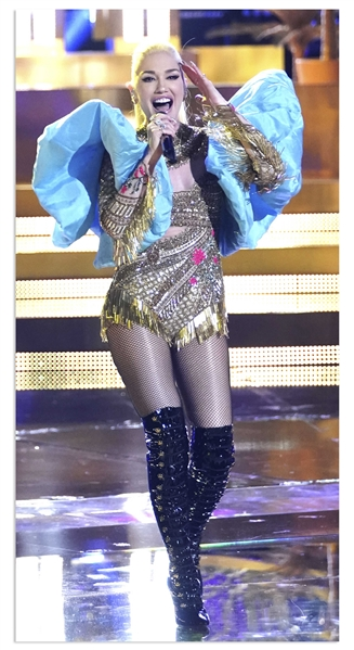 Gwen Stefani Stage-Worn Bodysuit From ''The Voice'' Custom Made by Designer Falguni Shane Peacock