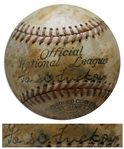 Ford Frick Single Signed Baseball on the Sweet Spot as National League President