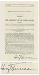 Harry Truman Signed Marshall Plan Speech -- Signed by Truman as President, This Speech to Congress Made the Case for the Most Important Achievement of His Presidency -- With University Archives COA
