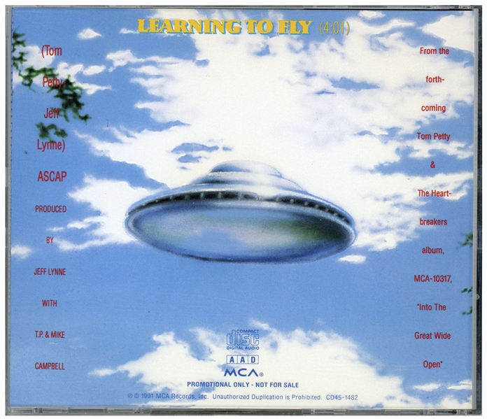 Original Artwork for Tom Petty and the Heartbreakers Album ''Into the Great Wide Open'' -- Commissioned Directly by Petty, Artwork Shows a Flying Saucer Used in the CD Booklet & Promo CD