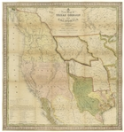 Map of Texas, Oregon and California From 1846 -- The Definitive Map Used by Western Settlers During the Gold Rush