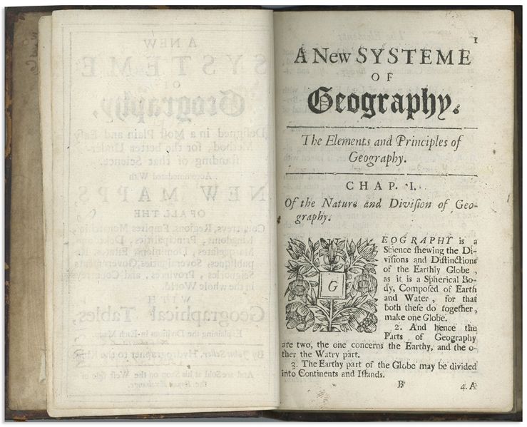''A New Systeme of Geography'' First Edition From 1685 by John Seller, the Hydrographer to the King -- Very Rare as a First Edition With Few Copies Still Extant