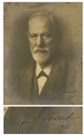 Scarce Sigmund Freud Signed Photo Measuring Over 9 x 11.75 -- With University Archives COA