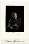 Eleanor Roosevelt Signed 10 x 13 Photo -- Also Signed by Photographer Yousuf Karsh