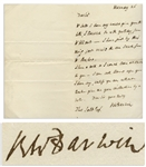 Robert Darwin Autograph Letter Signed From 1842, Shortly After Charles Darwin Published The Voyage of the Beagle