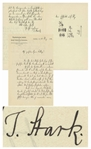 Johannes Stark Autograph Letter Signed in 1913, the Year He Discovered the Stark Effect, for Which He Won the Nobel Prize -- Letter Actually Discusses Odd Observations Regarding the Stark Effect