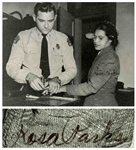 Rosa Parks Signed 10 x 8 Photo of Her Being Booked After Her Arrest