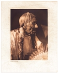Edward Sheriff Curtis Original Large Photogravure Plate of the Comanche Man Esipermi -- From The North American Indian