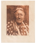 Edward Sheriff Curtis Original Large Photogravure Plate of Dog Woman - Cheyenne -- From The North American Indian