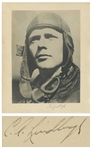 Charles Lindbergh Signed Photo Measuring 10.625 x 13.5