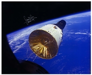 James Lovell Signed 20 x 16 Photo of the Golden Ribbons Gemini VII Spacecraft